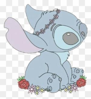 203 2032676 tumblr corazon stich flower flores cute tierno kawaii stitch background