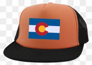 Colorado State Flag Trucker Hat With Snapback - Colorado State Flag Trucker  Hat With Snapback 94ecb32d3516