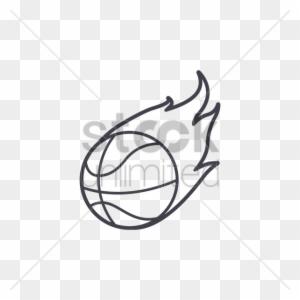 EPS Illustration - Basketball on fire. Vector Clipart gg85668323 - GoGraph