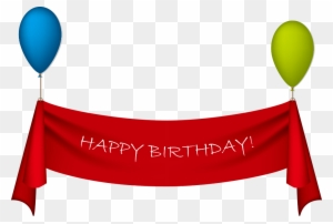 Birthday Clip Art Happy Birthday Banner Transparent