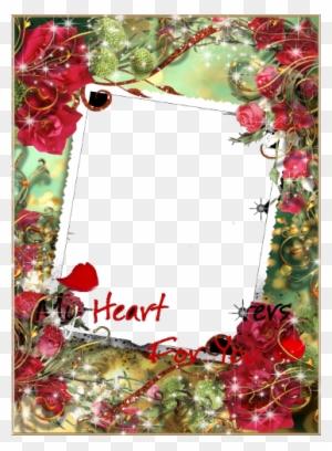 Flower Frame Hd - Beautiful Happy Birthday Frames - Free Transparent ...