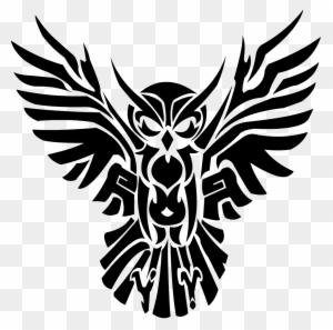 Black Tribal Flying Owl Tattoo Design Owl Tribal Tattoo Free