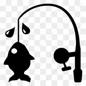 Download Classica Fishing Pole And Fish Icon Style Simple Fishing Pole Black And White Free Transparent Png Clipart Images Download