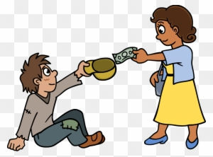 Giving To The Poor Png Transparent Giving To The Poor Helping Poor People Cartoons Free Transparent Png Clipart Images Download