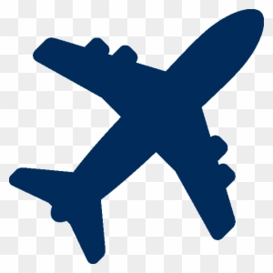 Airplane Clipart Dark Blue Airplane Icon Blue Free Transparent