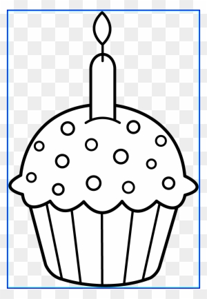 Black And White Cupcake Clipart Www Picswe Com