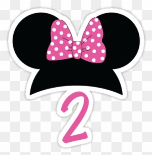 Minnie Mouse 2nd Birthday Stickers By Weston Miller Minnie Mouse