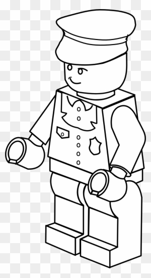 Colouring In Sheets Lego Man Coloring Police Officer - Lego Clipart ...