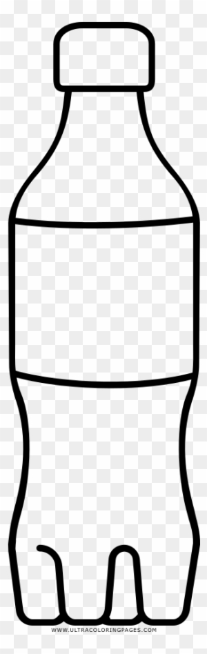 Water Bottles Line Art Coloring Book Clip Art - Black And White ...
