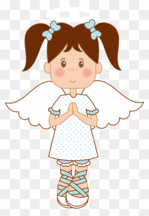 Angel Clipart Brown Hair Pencil And In Color - Angel For Christening ...