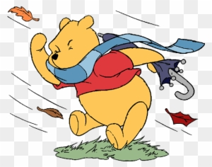 Autumn/fall Season Clip Art Image - Windy Winnie The Pooh ...