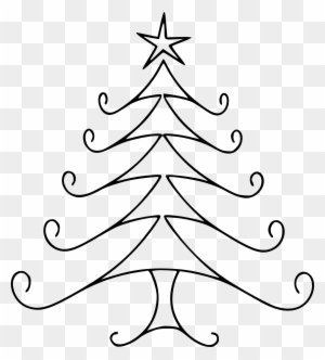 Download This Christmas Tree Digital Stamp For Your Easy To Draw