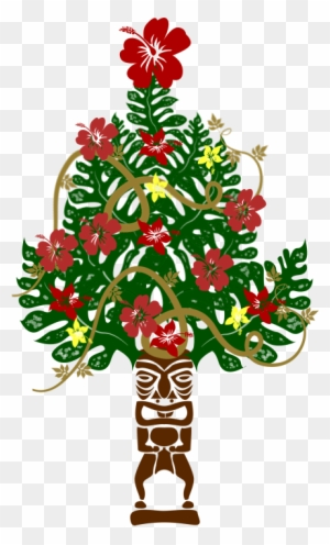 Hawaii Clipart Christmas Tree Hawaiian Christmas Tree Png Free