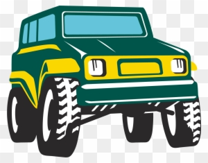 Jeep Wrangler Car Clip Art Orange Jeep Clipart Free Transparent