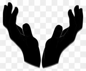 Giving Hand3 Clip Art At Clker - Open Hand Silhouette Png ...