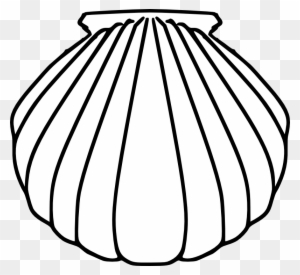 Pilgrim Shell Clipart Images Black And White Free Transparent