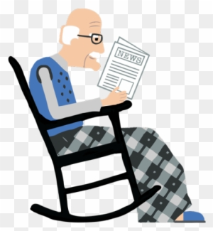 Oldnews Oldman 600px Rocking Chair Free Transparent Png Clipart