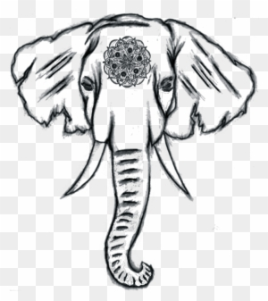 How To Draw An Elephant Clip Art Baby Elephant Easy Drawing Free