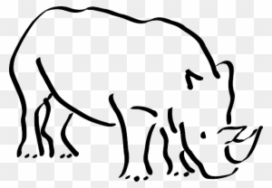 Rhino Clipart Black And White Transparent Png Clipart Images Free Download Clipartmax