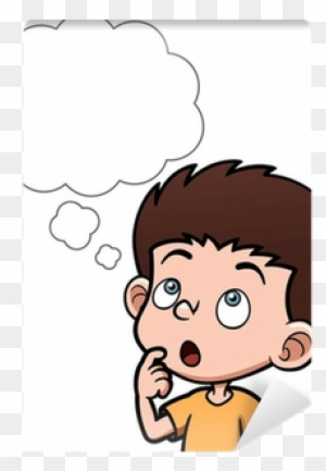 Vector Illustration Of Cartoon Boy Thinking With White Cartoon Child Thinking Free Transparent Png Clipart Images Download