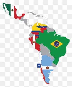 Latin America Map With Flags Clipart Spanish Speaking Countries