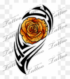 Sbink Tribal Rose Tattoo Free Transparent Png Clipart Images
