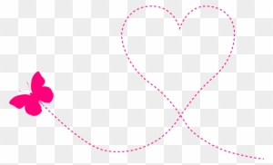 Butterfly Heart Trail Clipart Icon Png Valentines Day Background
