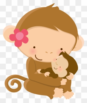 Mom Baby Animal Clip Art Graphics Baby Shower Mother S Mom And Baby Monkey Clipart Free Transparent Png Clipart Images Download