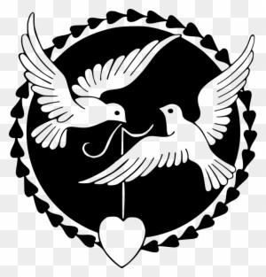 Dove Valentine Cliparts 8, Buy Clip Art - Black And White Valentines Day Clipart