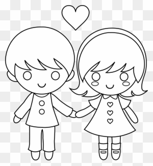 Valentine S Day Clipart Love Child Draw A Little Boy And Girl