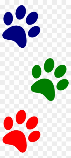paw clipart red and blue black and white dog print border free rh clipartmax com Paw Print Clip Art Transparent Background Cat Paw Print Heart Clip Art