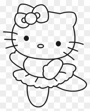 Lovely Sleeping Hello Kitty Coloring Page | Hello kitty coloring ... | 368x300