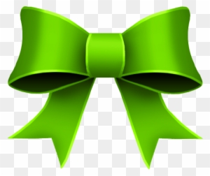 christmas bow clipart green ribbon clipart