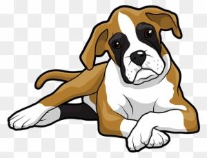 Boxer Puppy Golden Retriever Drawing Clip Art Cute Boxer Dog Cartoon Free Transparent Png Clipart Images Download
