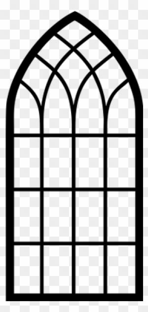 Church Window Clipart Arch Window Frame Silhouette