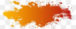 Orange Color Splash Png @clipartmax.com