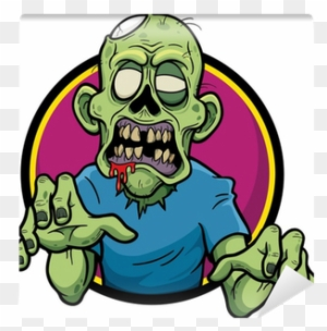 vector illustration of cartoon zombie wall mural zombie
