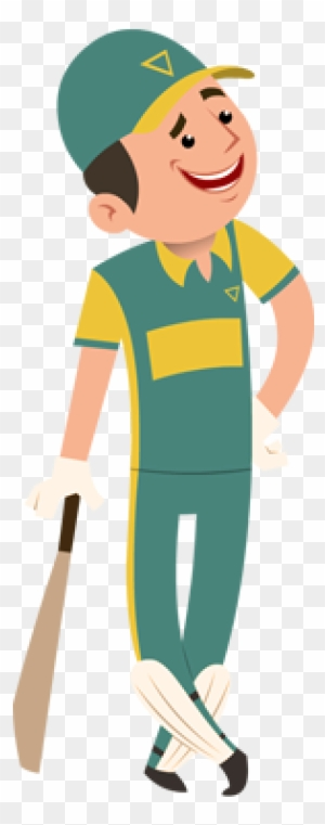 Cricket Clip Art - Cricketer Sticker - Png Download (#2067963) - PinClipart