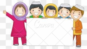 Muslim Cartoon Child Illustration Gambar Kartun Anak Muslim Free Transparent Png Clipart Images Download