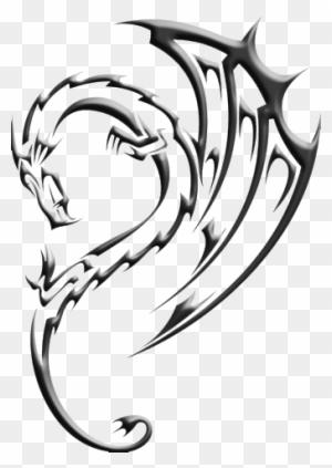 Void Dragon Mark Henna Tattoo Designs Tribal Free Transparent