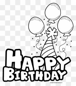 Happy Birthday Banner Clipart Black And White Happy Birthday Black