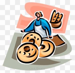 Padaria, Logotipo Da Padaria Ou Etiqueta Padeiro Ou Cozinheiro Feliz Com  Pão à Disposição Ilustração Do Vetor Ilustração do Vetor - Ilustração de  ilustração, cozinheiro: 119131697
