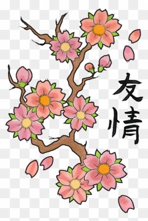 Sakura Flower Clip Art Cherry Blossom Tattoo Design Free