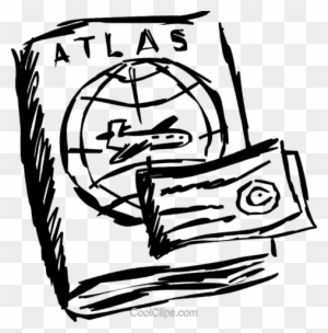 Atlas And Travel Ticket Royalty Free Vector Clip Art Atlas Clipart Black And White Free Transparent Png Clipart Images Download