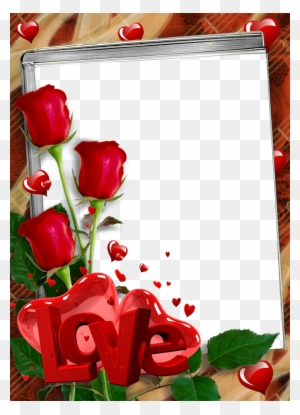 Roses Love Frame - Picmix Rose Frames Animated - Free Transparent ...