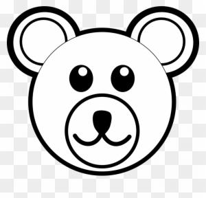 Teddy Bear Clip Art Ccoloringpages Draw A Bear Face Free