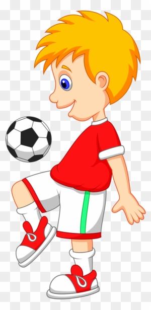 Play Football Cartoon - Free Transparent PNG Clipart ...
