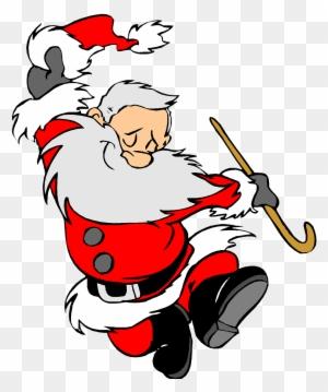 Christmas Dancing Cartoon.Christmas Holiday Clip Art Santa Clause Happy Dancing