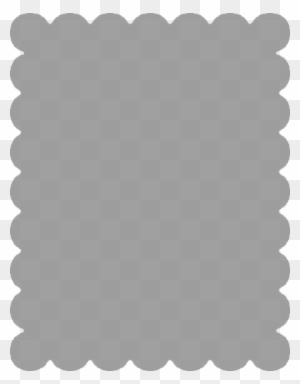 Scalloped Rectangle Frame Clipart