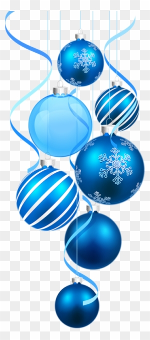 Boules Noel Png Tube Blue Christmas Ornament Png Free